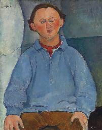 Portrait du sculpteur Oscar Mi