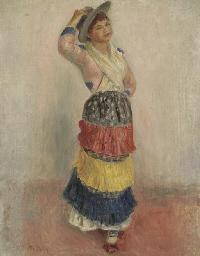 Femme dansant en costume d'ita