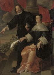 A double portrait of a gentlem