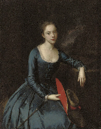 Portrait of a lady, seated, th