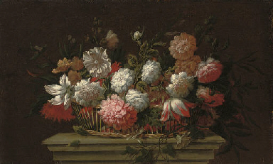Carnations, chrysanthemums, ro