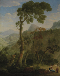 A mountainous landscape with a