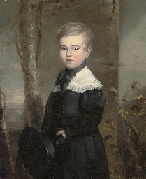 Portrait of a young boy, three