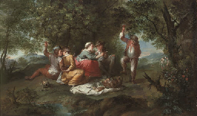 Merry company in a landscape
