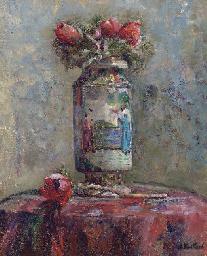 Anémones dans un vase chinois
