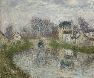 Le canal à Moret