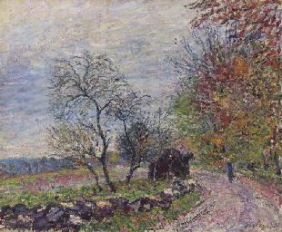 Le long du bois en automne