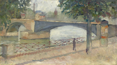 Vue de la Seine à Saint-Cloud