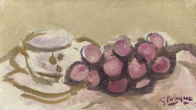 Tasse et raisins