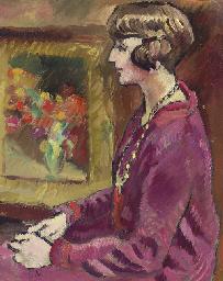 Femme au collier (Portrait de