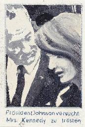 President Johnson consoles Mrs
