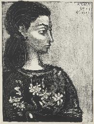 Femme au corsage à fleurs (B.