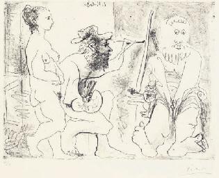 Peintre au travail (B. 1121; B