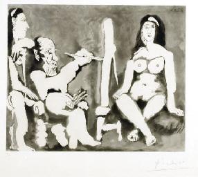 Le peintre et son modèle (B. 1