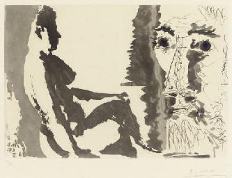 Peintre et modèle (B. 1213; Ba