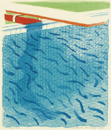Pool Made with Paper and Blue