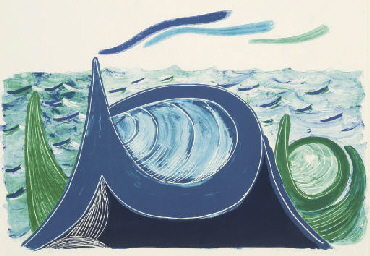 The Wave, a Lithograph (M.C.A.