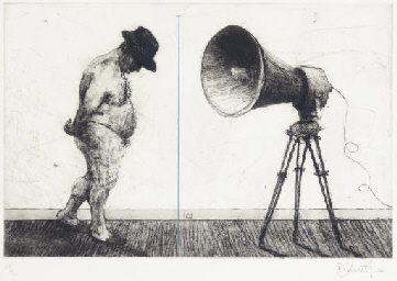 Man with Megaphone; and Man wi