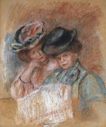 Deux femmes lisant
