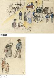Le Marché (recto); Deux paysan