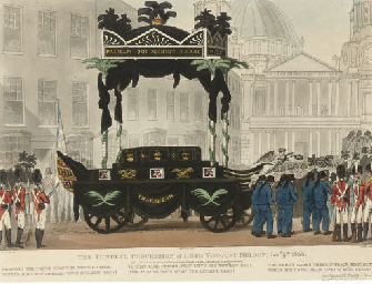 The funeral procession of Lord