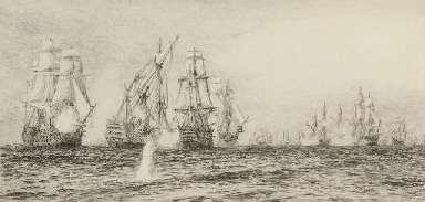 The battle of Trafalgar (one i