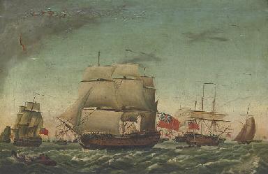 The fleet arriving back at Spi