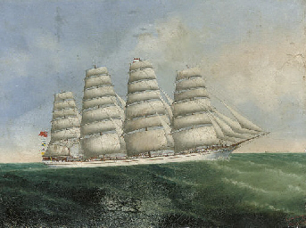 A British four-masted barque u