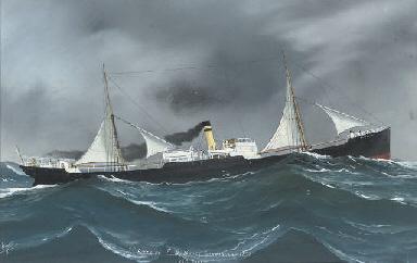S.S. Alderley braving a heavy