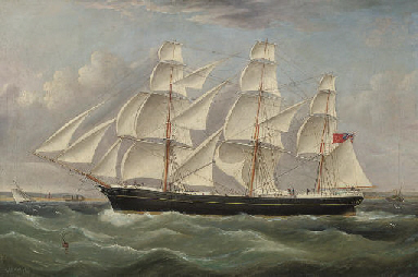 A British merchantman under fu
