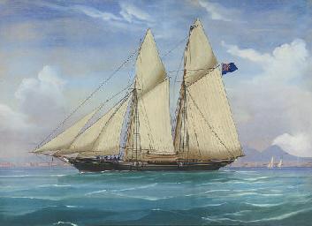 A British topsail schooner cru