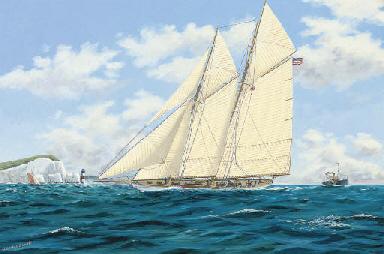 The schooner Westward running