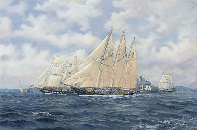 The sail training ships Sir Wi