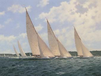 The 12-metre class racing in t