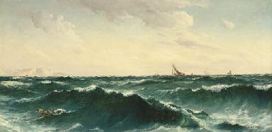 'Hull down', off Cornwall