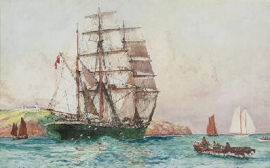 The barque Britannia of Belfas