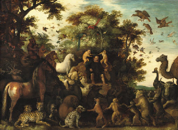 Aesopus and the animals in a l