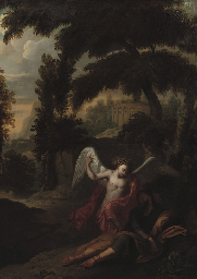 The Angel visiting Jacob in a