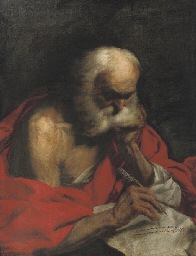Saint Jerome writing a letter