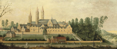 A view of Egmond Abbey