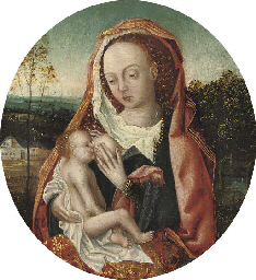 The Virgin and Child in a wood