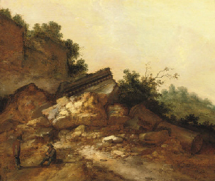 A rocky landscape with two pea