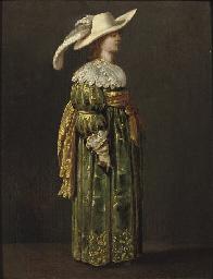 An elegant woman, full-length,