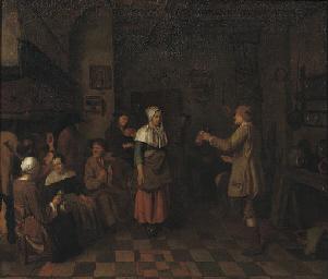 Peasants making music and danc
