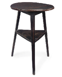 AN ENGLISH ELM TWO-TIER CRICKE