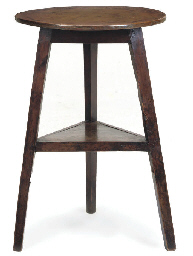 AN ENGLISH YEWWOOD TWO-TIER CR