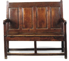 A WELSH OAK SETTLE