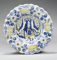 A DELFT POLYCHROME ROYAL PORTR