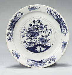 A GERMAN FAYENCE PLATE