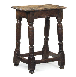 AN ENGLISH OAK JOINED STOOL